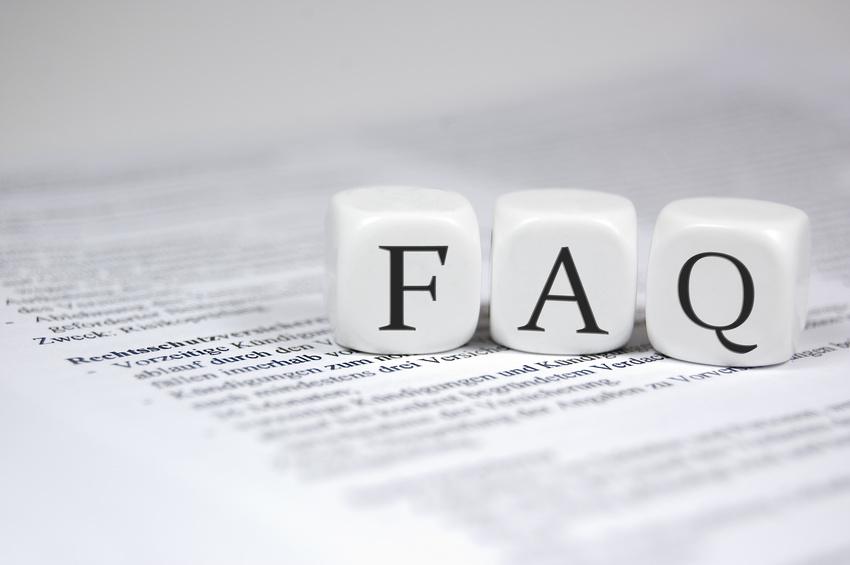 FAQ in Würfeln